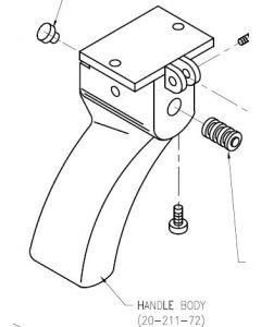 Trigger Gun Handle Body